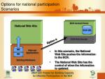 options for national participation scenarios3