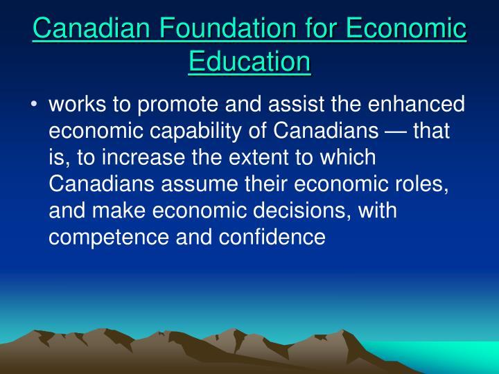 Canadian Foundation for Economic Education