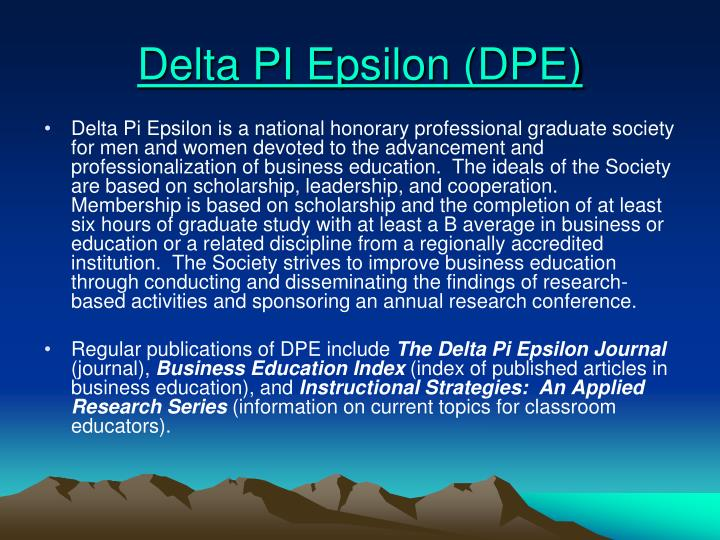 Delta PI Epsilon (DPE)