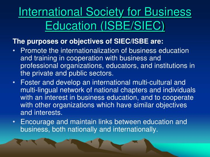 International Society for Business Education (ISBE/SIEC)