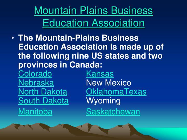 Mountain Plains Business Education Association