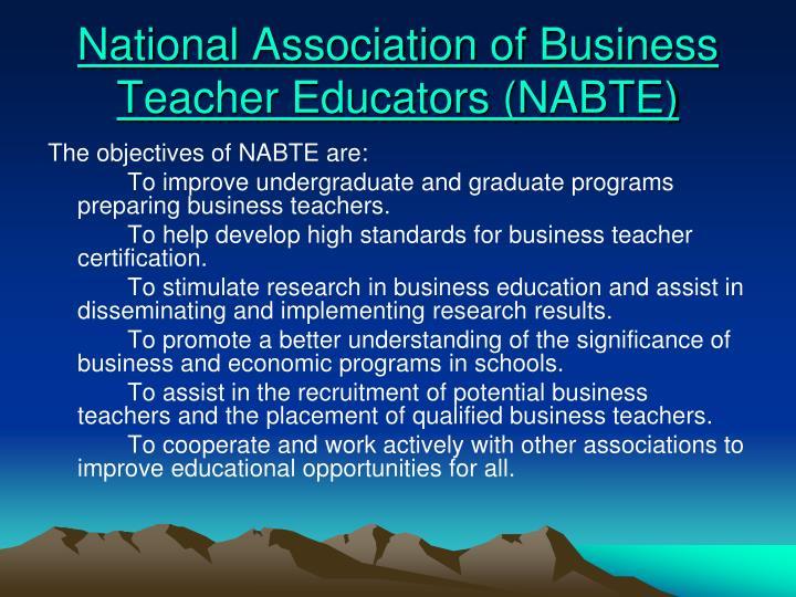 National Association of Business Teacher Educators (NABTE)