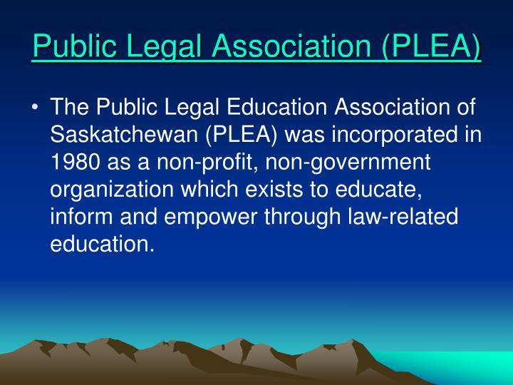 Public Legal Association (PLEA)