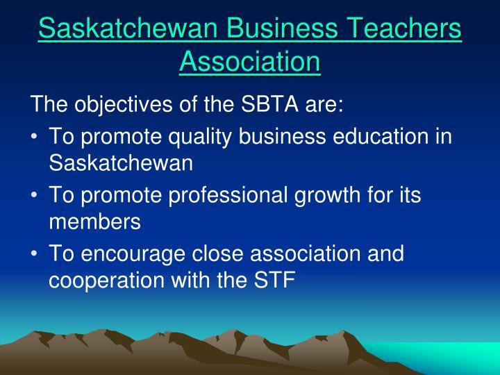 Saskatchewan business teachers association