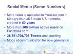 social media some numbers