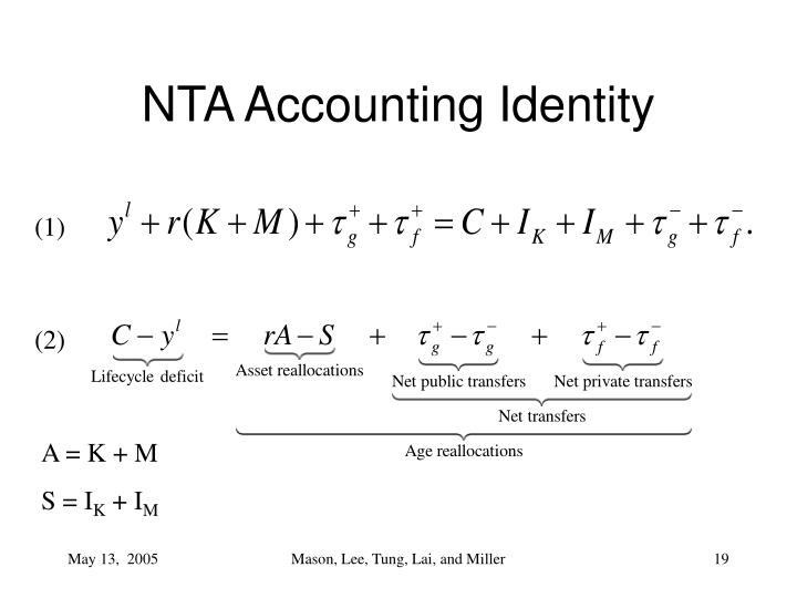 NTA Accounting Identity