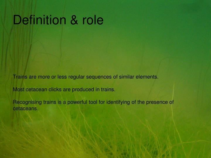 Definition & role