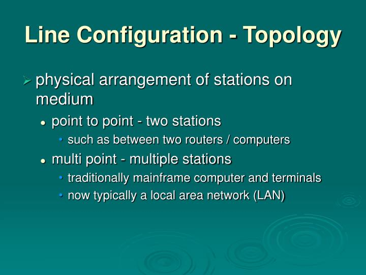 Line Configuration - Topology