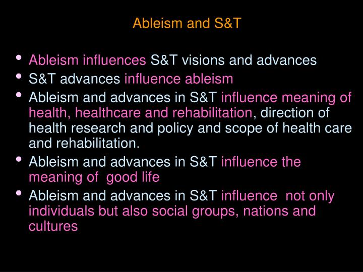 Ableism and s t