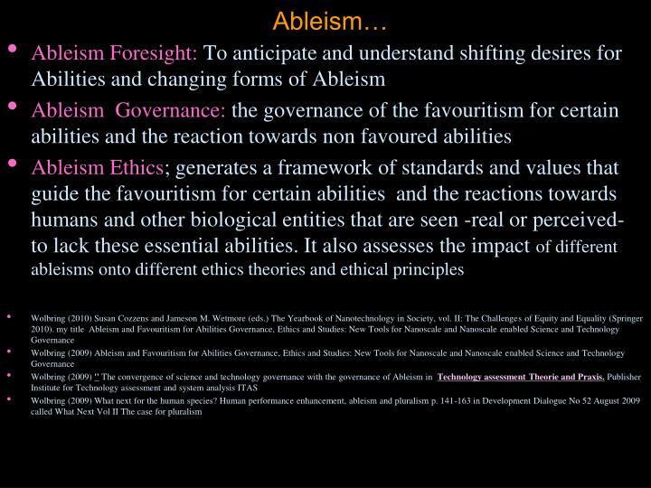 Ableism…