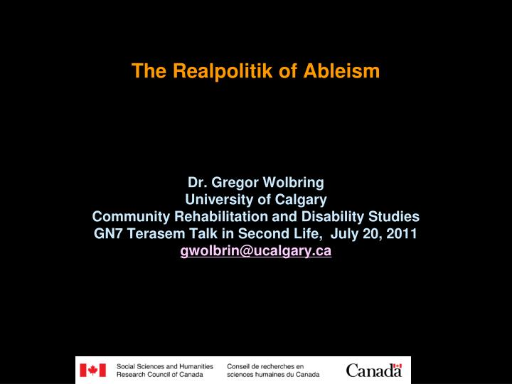 The realpolitik of ableism