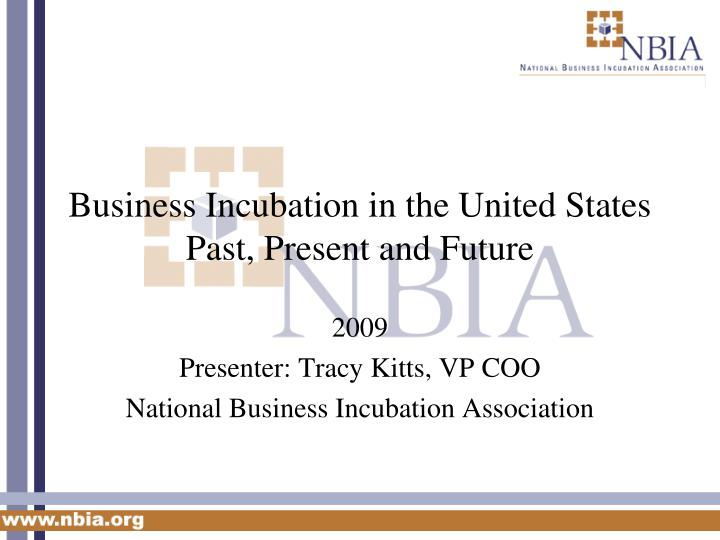 Business incubation in the united states past present and future