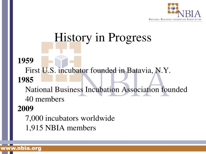 History in progress