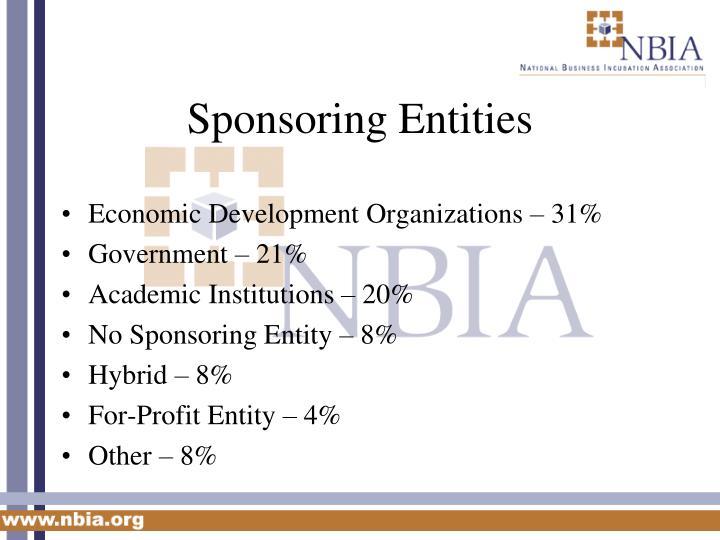 Sponsoring Entities