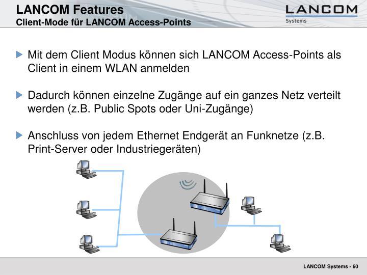 LANCOM Features