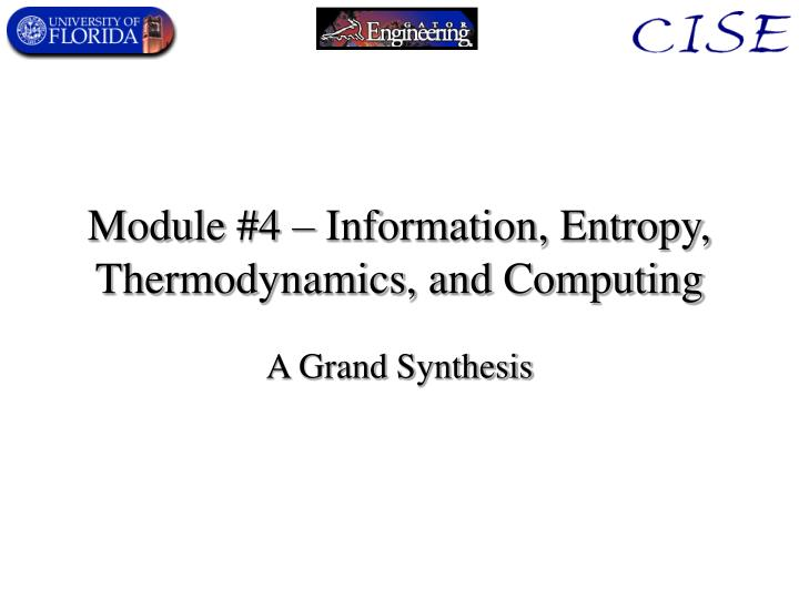 module 4 information entropy thermodynamics and computing n.