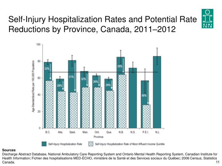 Self-Injury Hospitalization Rates and Potential Rate