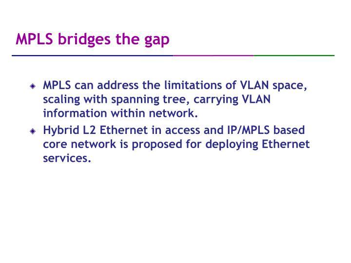 MPLS bridges the gap