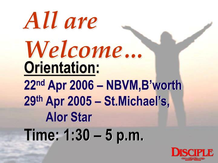All are Welcome…