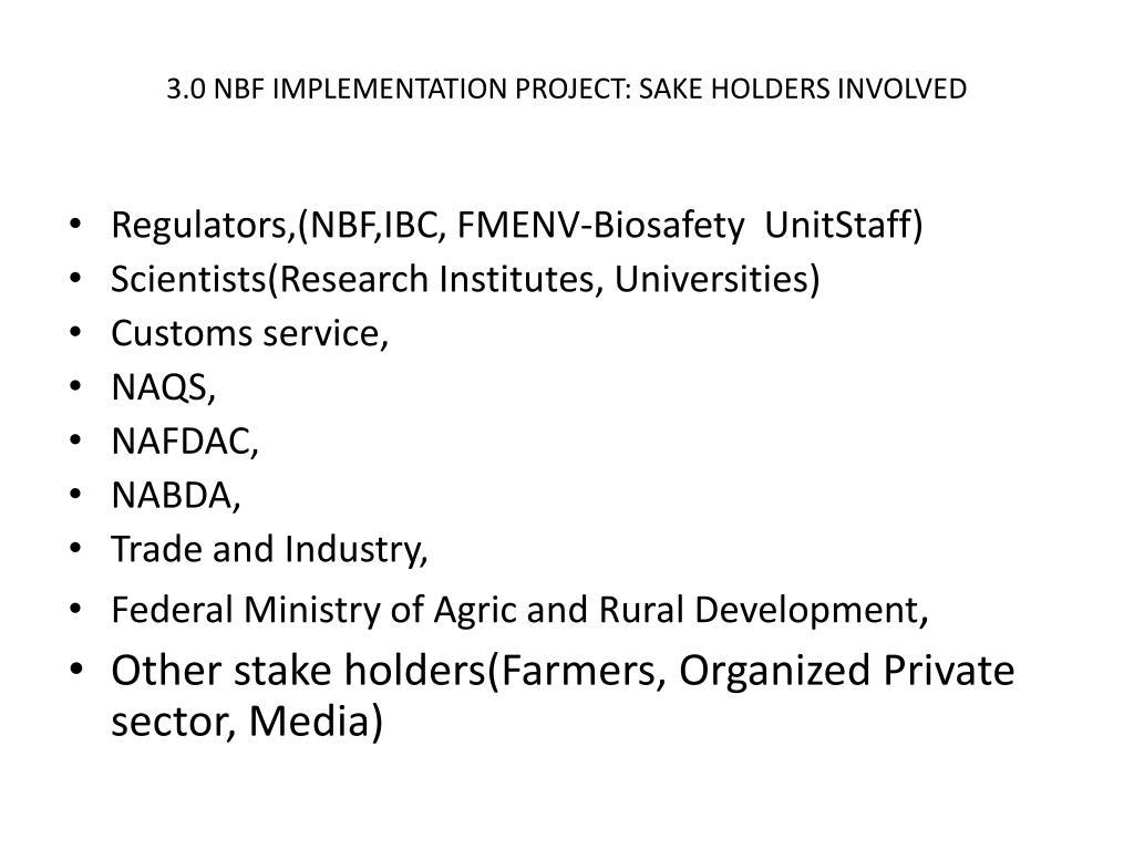 PPT - STATUS OF UNEP/GEF NATIONAL BIOSAFETY FRAMEWORK IMPLEMENTATION