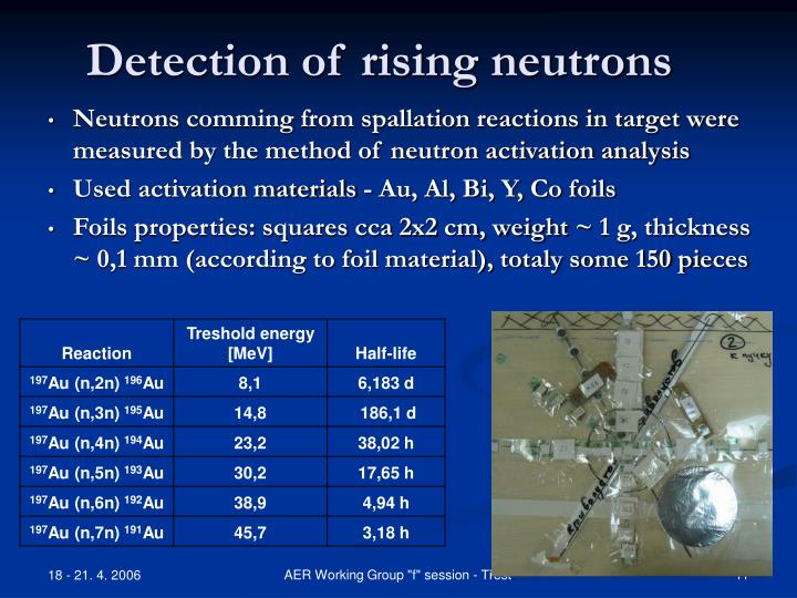 Detection of rising neutrons