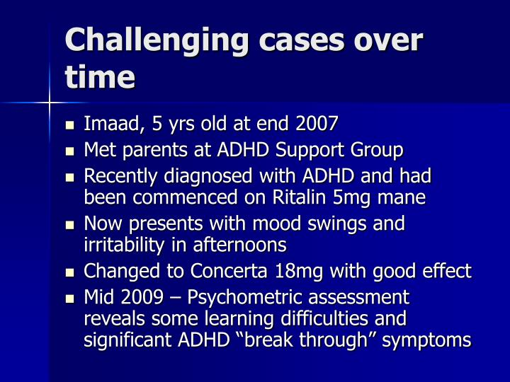 Challenging cases over time