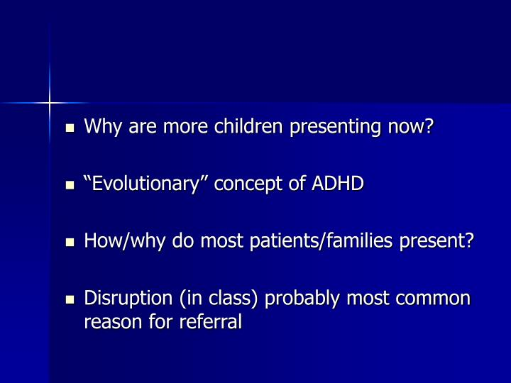 Why are more children presenting now?