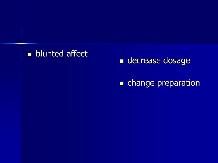 blunted affect