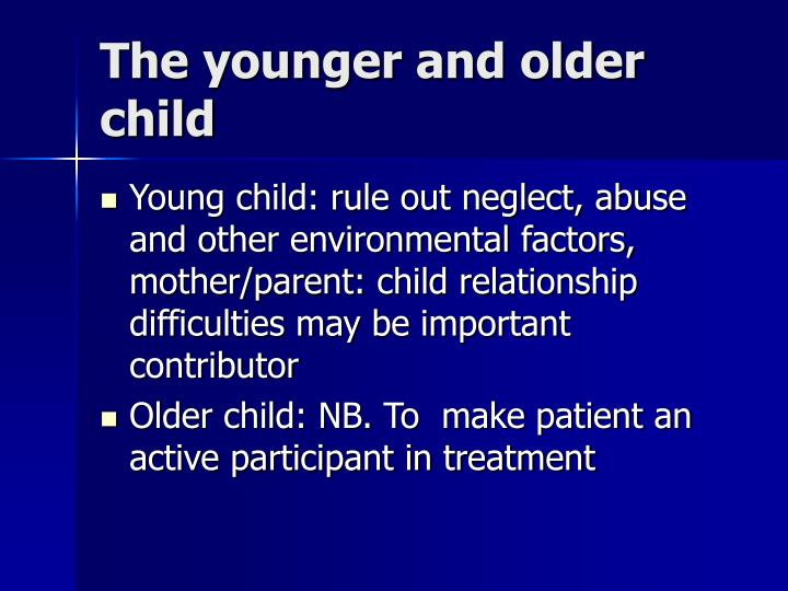 The younger and older child