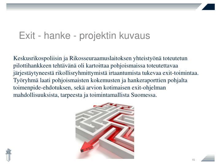 Exit - hanke - projektin kuvaus