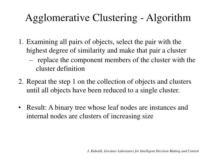 Agglomerative Clustering - Algorithm