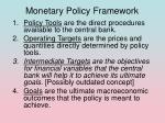monetary policy framework