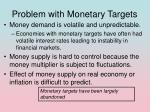problem with monetary targets
