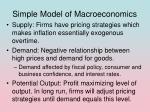 simple model of macroeconomics