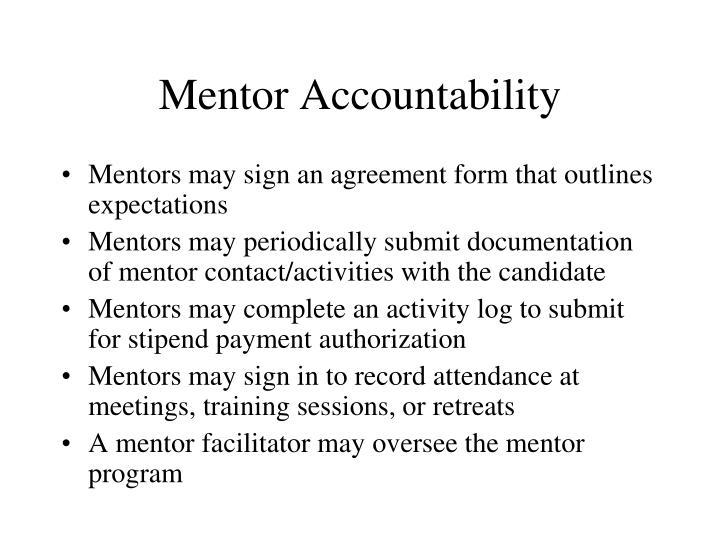 Mentor Accountability