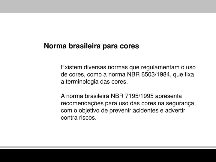 Norma brasileira para cores