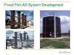fixed film ad system development