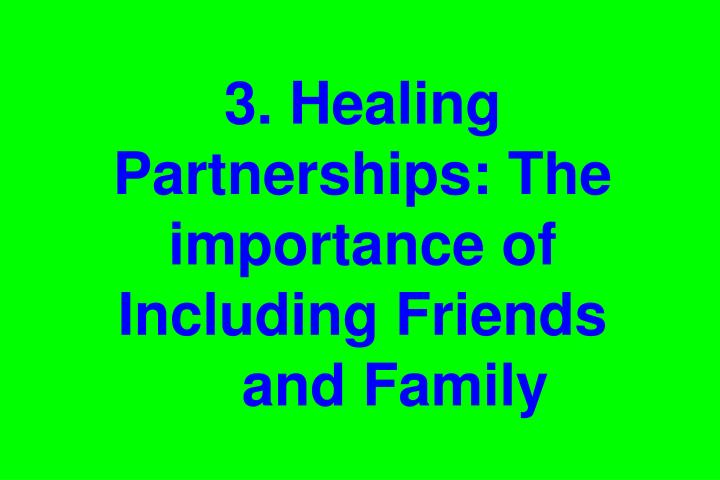 3. Healing Partnerships: The importance of Including Friends