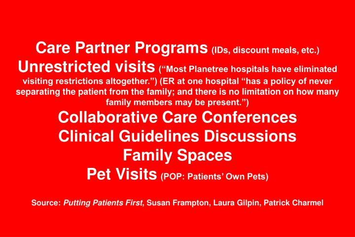 Care Partner Programs