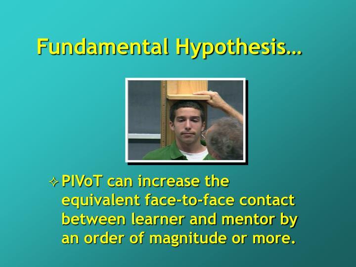 Fundamental Hypothesis…