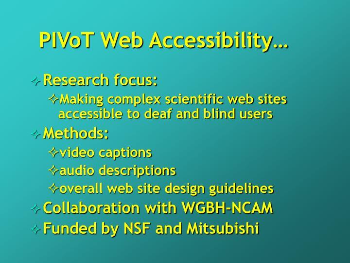 PIVoT Web Accessibility…