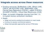 integrate access across these resources