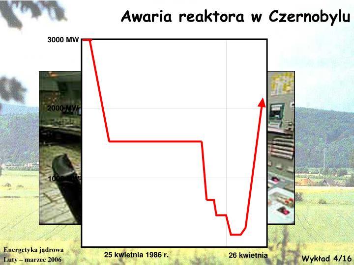 Awaria reaktora w Czernobylu