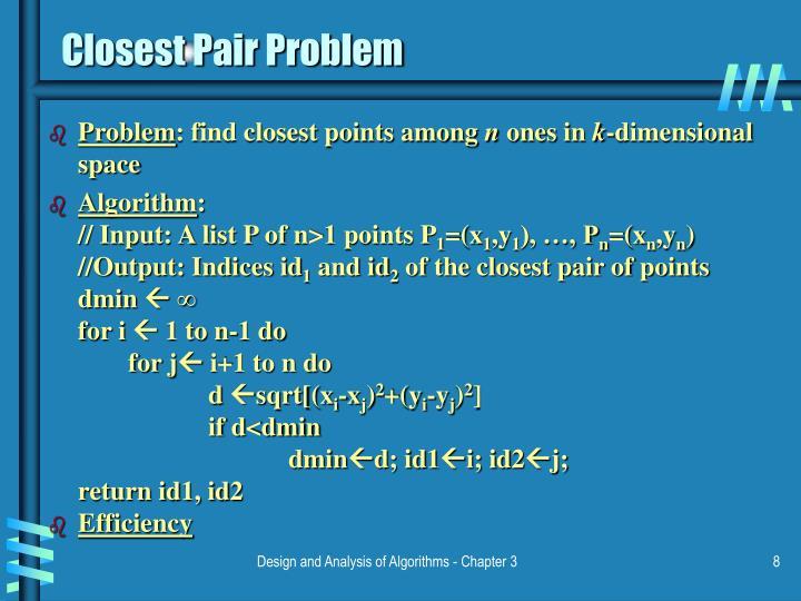 Closest Pair Problem