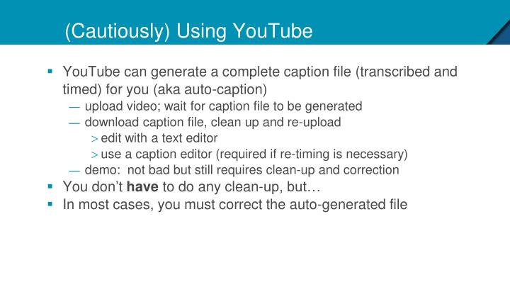 (Cautiously) Using YouTube