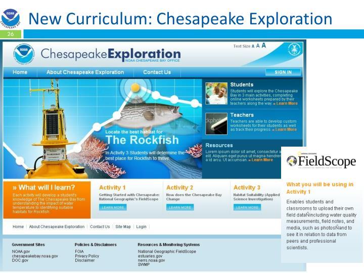 New Curriculum: Chesapeake Exploration