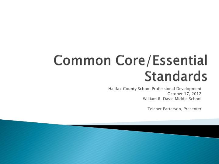common core essential standards n.