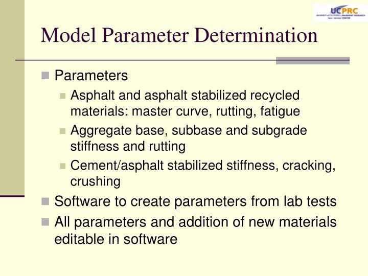 Model Parameter Determination