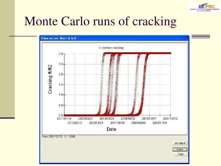 Monte Carlo runs of cracking