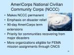 americorps national civilian community corps nccc